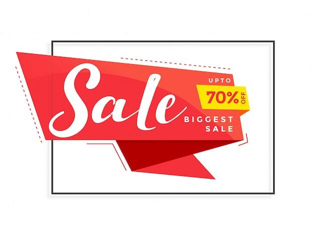 Moderna plantilla de banner de venta para marketing y promoción. vector gratuito