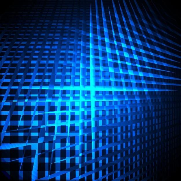 Moderno Fondo De Brillantes Líneas Azules