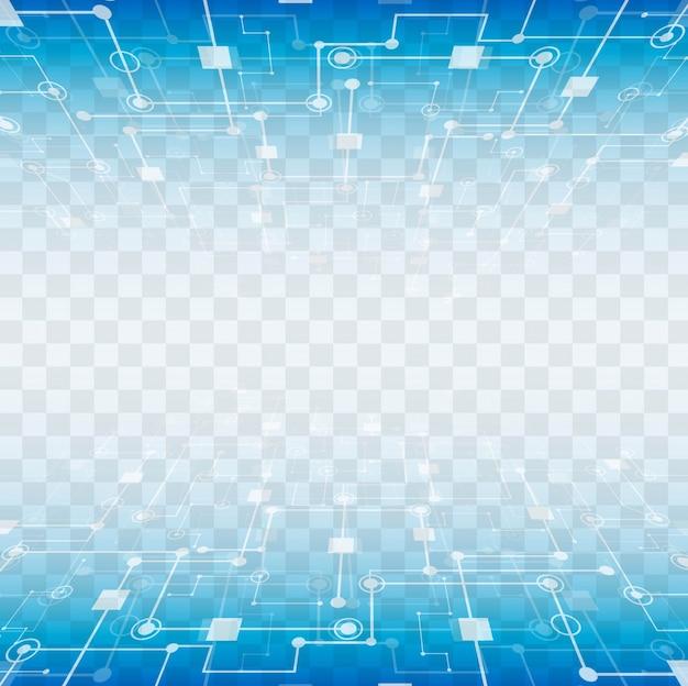 Modernos elementos tecnológicos con fondo transparente Vector Gratis