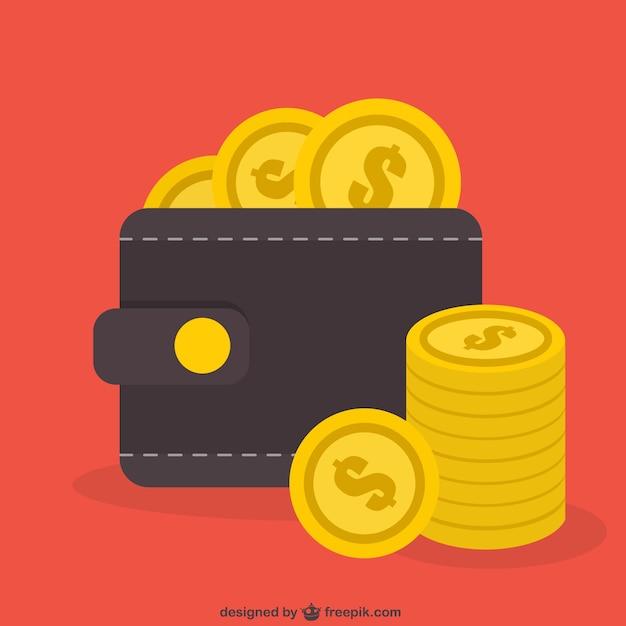 Monedas del dólar vector gratuito