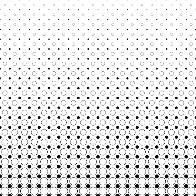 Monocromático abstracto círculo patrón fondo blanco y negro ...