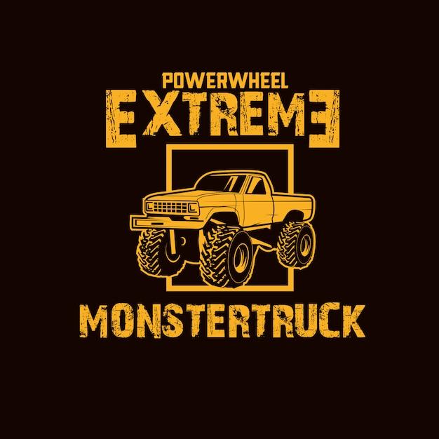Monster truck car Vector Premium