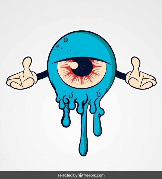 monstruo azul de dibujos animados descargar vectores gratis