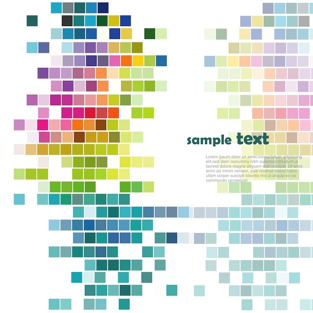 Mosaico colorido vector gratuito