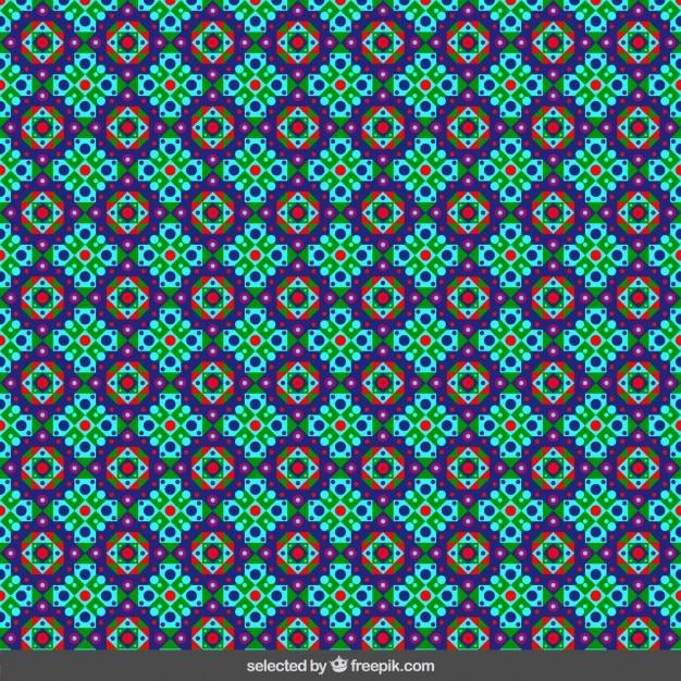 Mosaico isl mico floral de colores descargar vectores gratis - Mosaico de colores ...