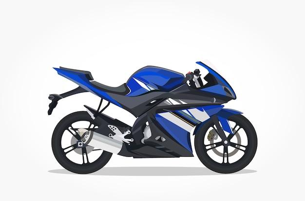 Moto Deportiva Azul Descargar Vectores Premium