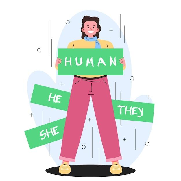 Movimiento de género neutral vector gratuito