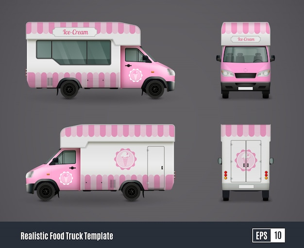 Mr whippy van vector gratuito