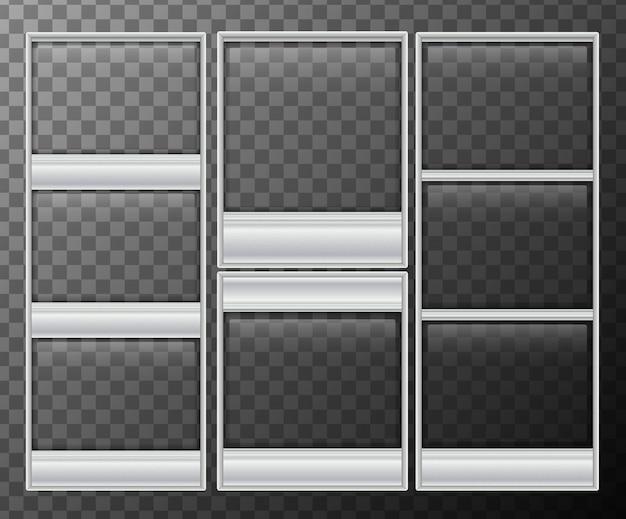 Muchos marcos de cuadros sobre fondo negro | Descargar Vectores Premium