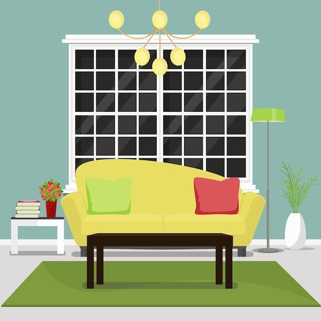 Mueble del sal n dise o de interiores de la acogedora for Mueble vector