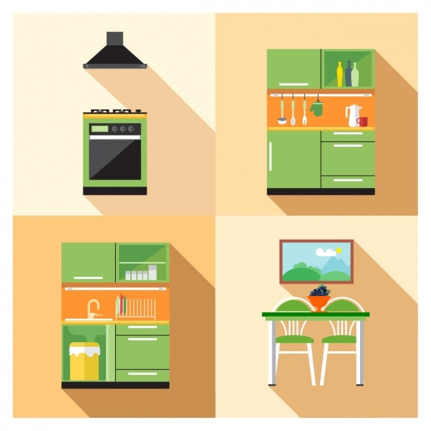 Muebles de cocina | Descargar Vectores gratis