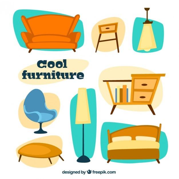 Muebles de casa chulos descargar vectores gratis for Articulos decorativos para casa