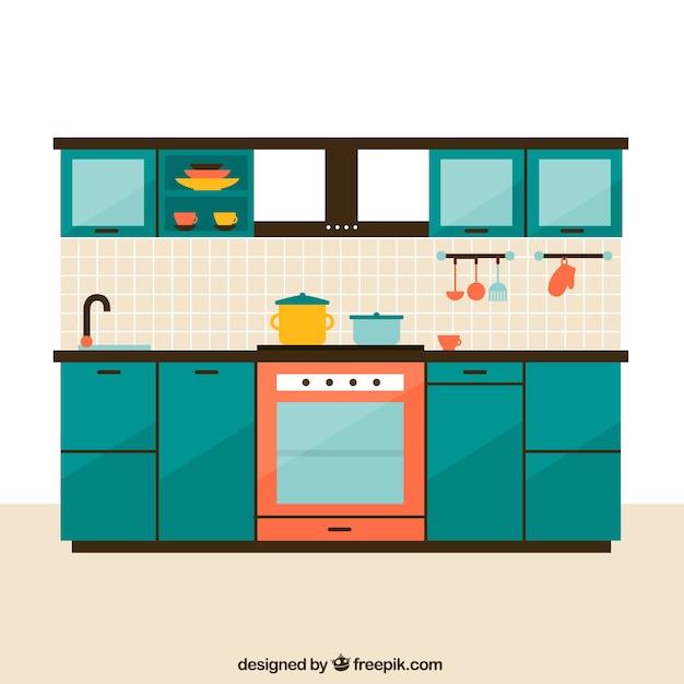 Muebles de cocina descargar vectores gratis - Imagenes de cocinas para imprimir ...
