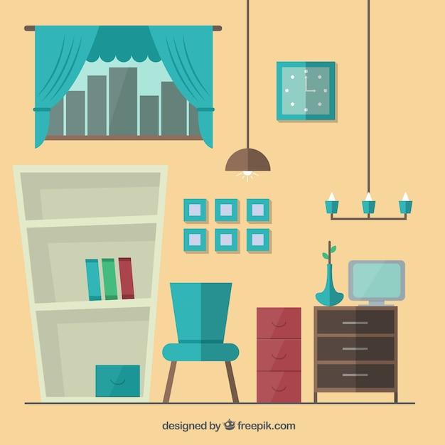 Muebles de dibujos animados descargar vectores premium for Cursos de muebleria gratis