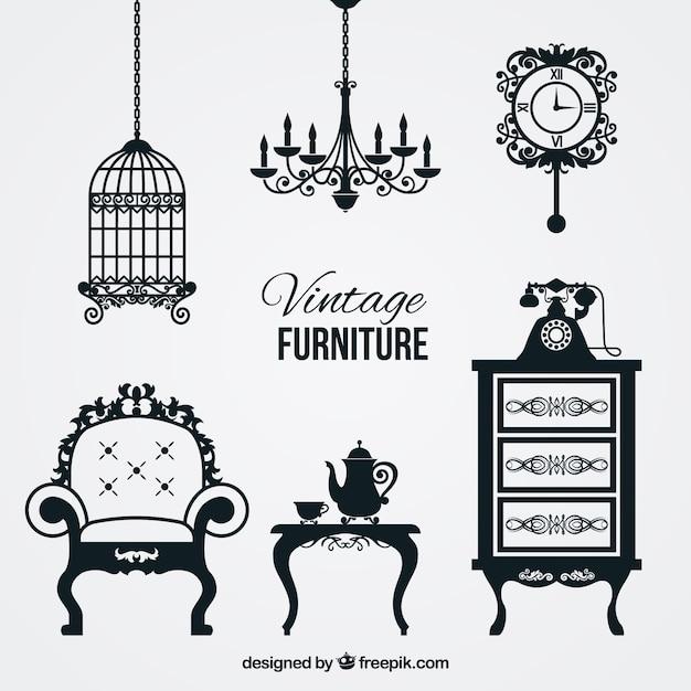 Muebles de poca descargar vectores gratis for Epoca muebles