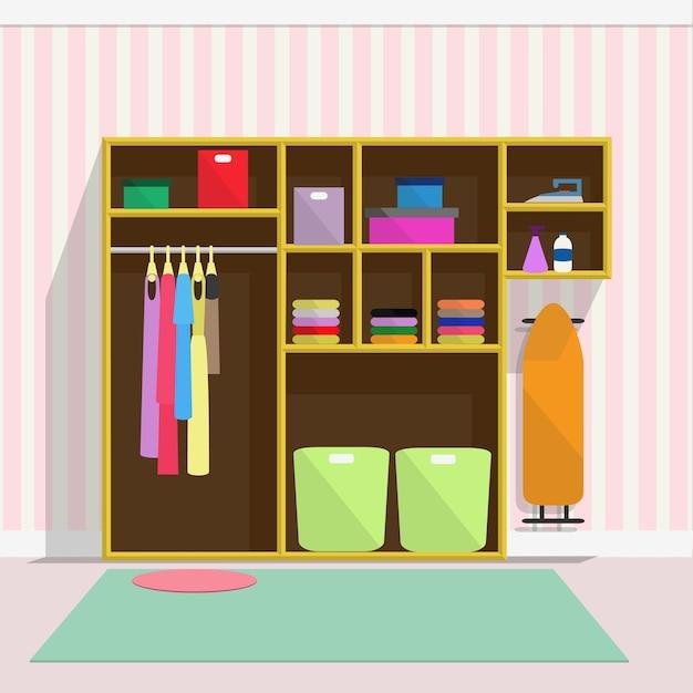 Muebles de la sala de lavandería | Descargar Vectores Premium