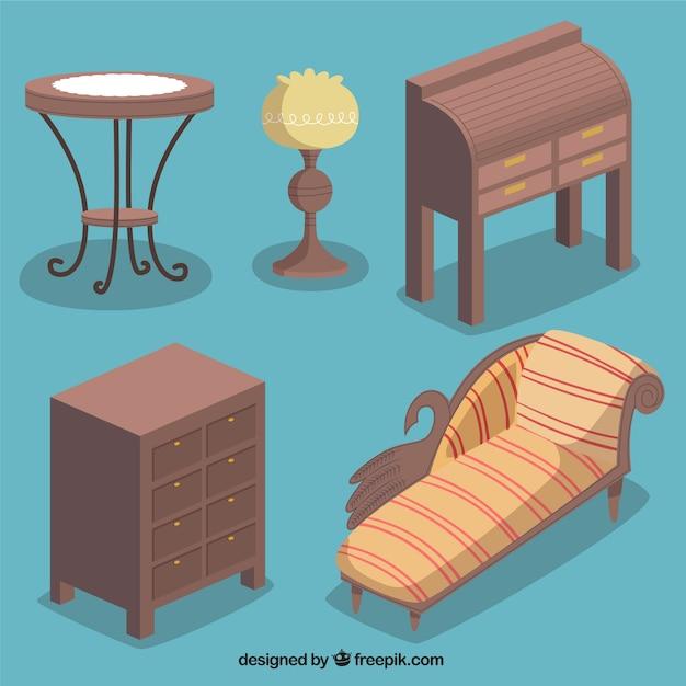 Muebles de madera descargar vectores premium - Muebles para cds madera ...