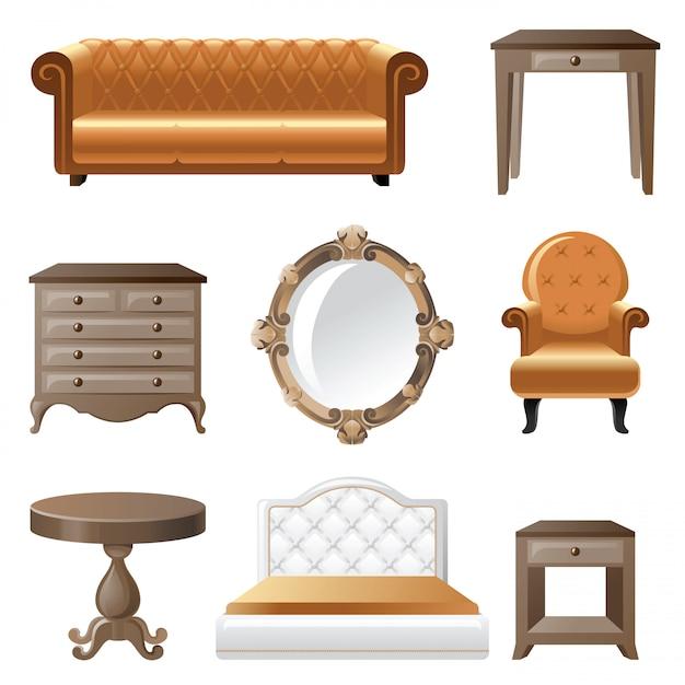 Muebles para el hogar Vector Premium