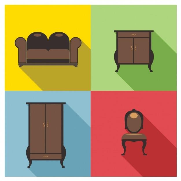 Muebles marrones descargar vectores gratis for Muebles gratis