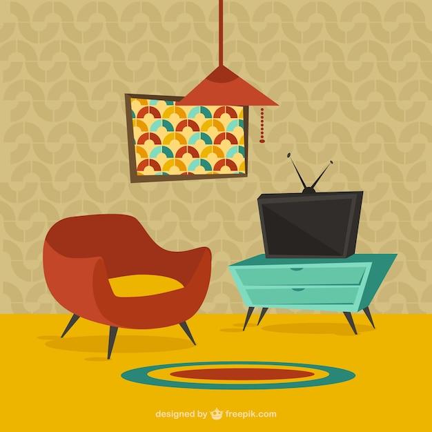 muebles para el hogar en estilo de dibujos animados