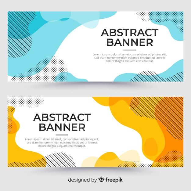 Muestra banner abstracto fluido vector gratuito
