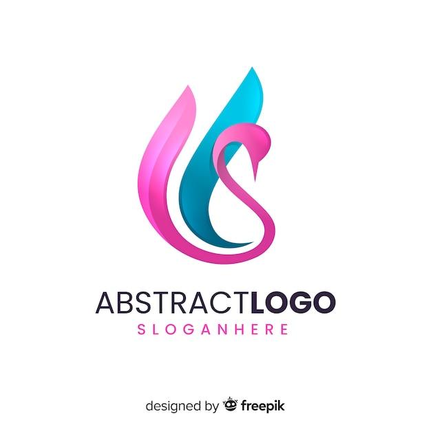 Muestra logo abstracto degradado vector gratuito
