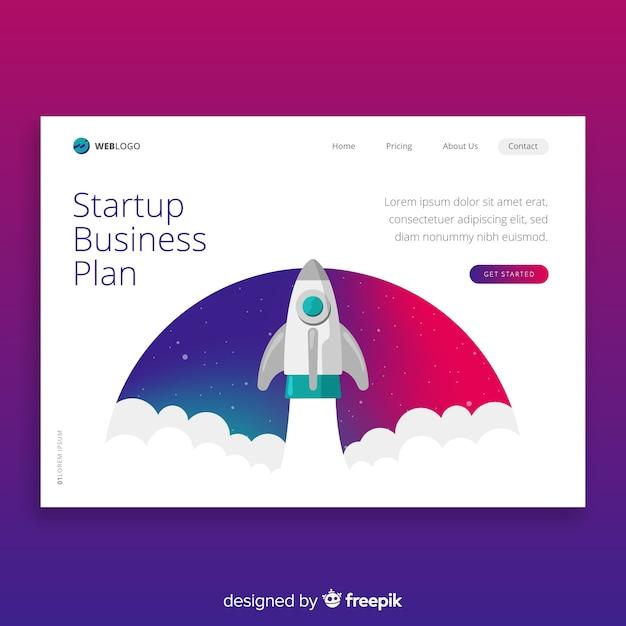 Muestra página de destino startup vector gratuito