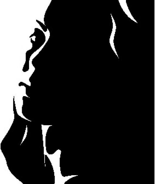 Mujer Bonita En Blanco Y Negro 2 Vector Gratis