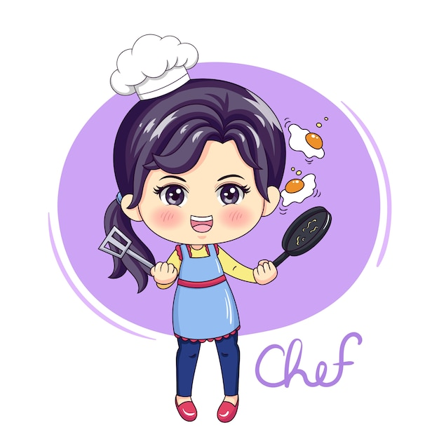 Mujer chef Vector Premium