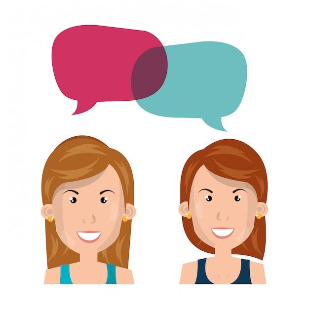 Mujer de negocios hablando vector gratuito