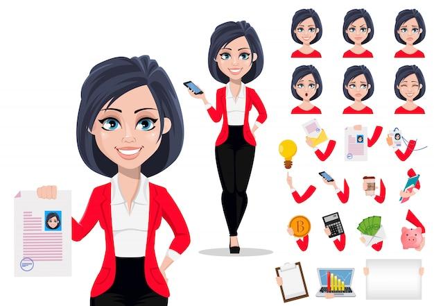 Mujer de negocios Vector Premium