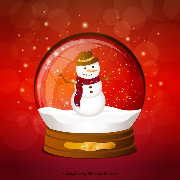 Mu eco de nieve dentro de una bola de cristal descargar - Bola nieve cristal ...