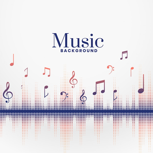 Música audo late sonido fest fondo vector gratuito