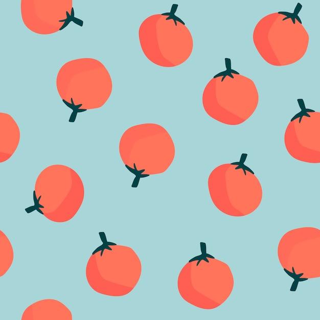 Naranjas en vector de fondo azul de patrones sin fisuras vector gratuito