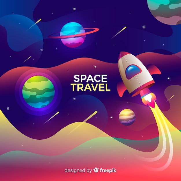 Nave espacial vector gratuito