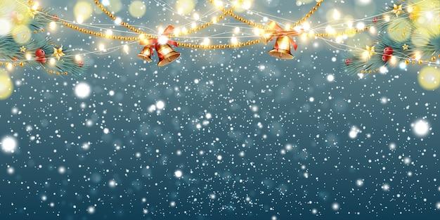 Navidad abstracta Vector Premium