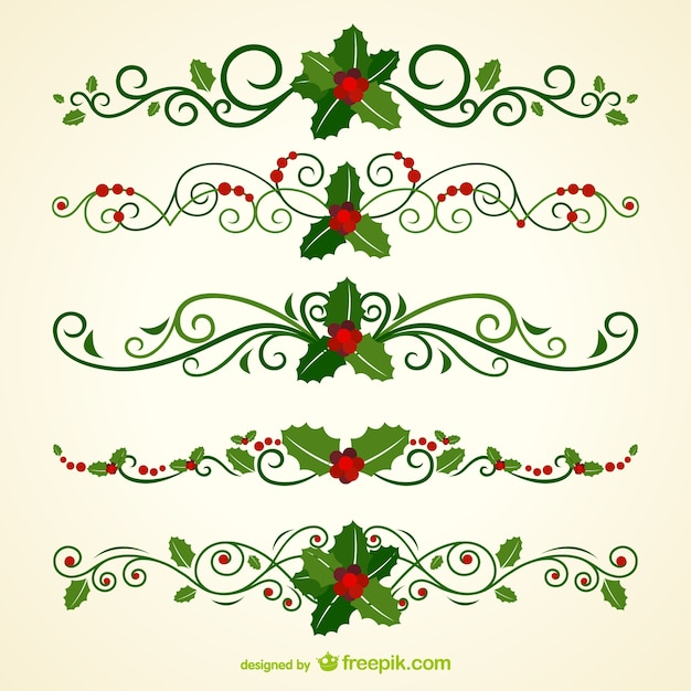 Navidad cabeceras ornamentales Vector Gratis