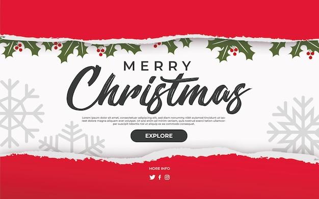 Navidad desgarrada vector gratuito