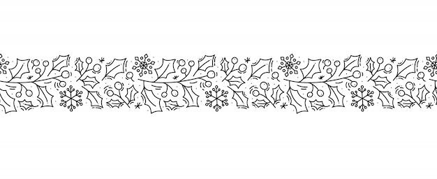 Navidad monoline escandinavo ornamento de patrones sin fisuras Vector Premium