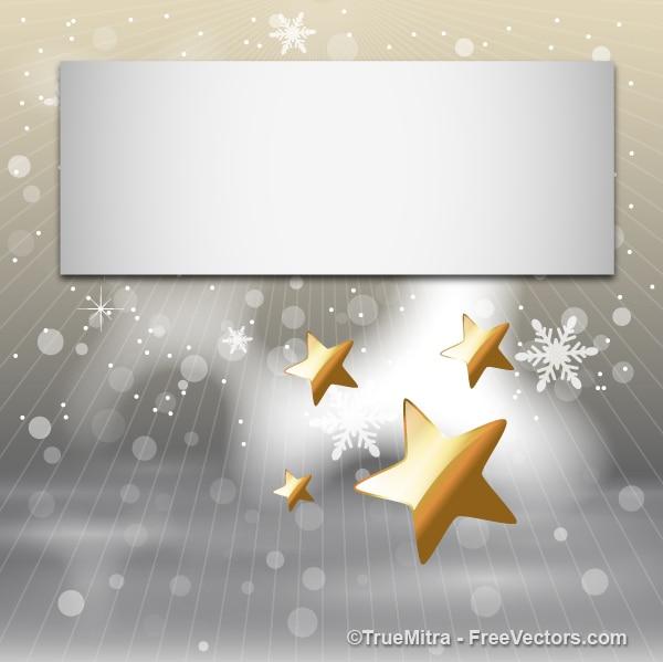 Navidad nieve y estrellas de fondo saludo descargar for Estrella de nieve