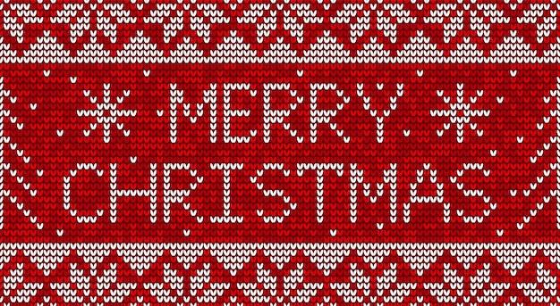 Navidad roja y blanca tejer de fondo transparente Vector Premium