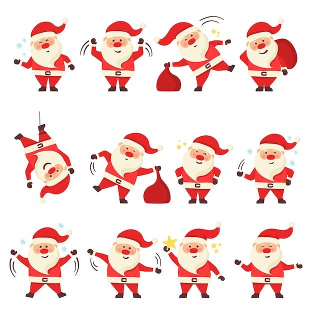 Navidad santa claus. Vector Premium