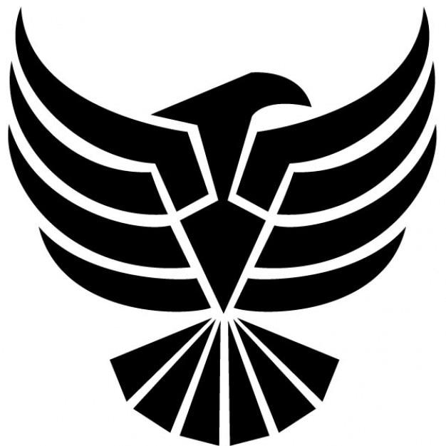 Negro águila clip art ilustración vectorial | Descargar Vectores ...