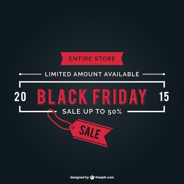 Negro etiqueta de venta viernes vector gratuito