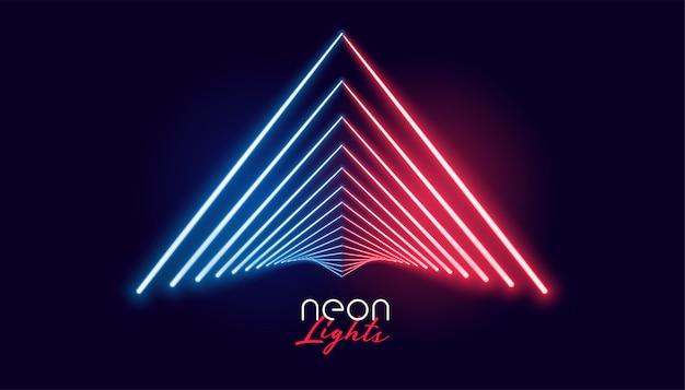 Nelights forma geométrica en color rojo y azul vector gratuito