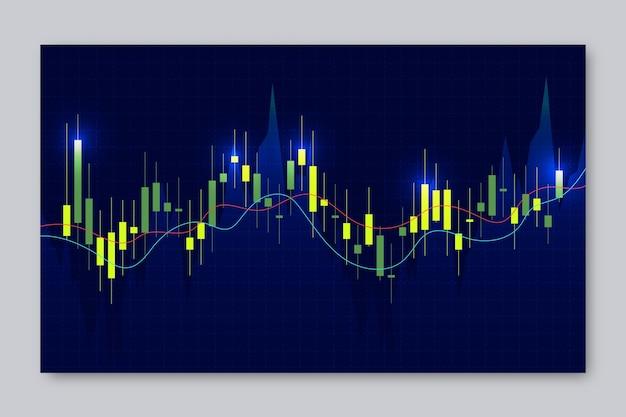 Neon forex trading wallpaper vector gratuito