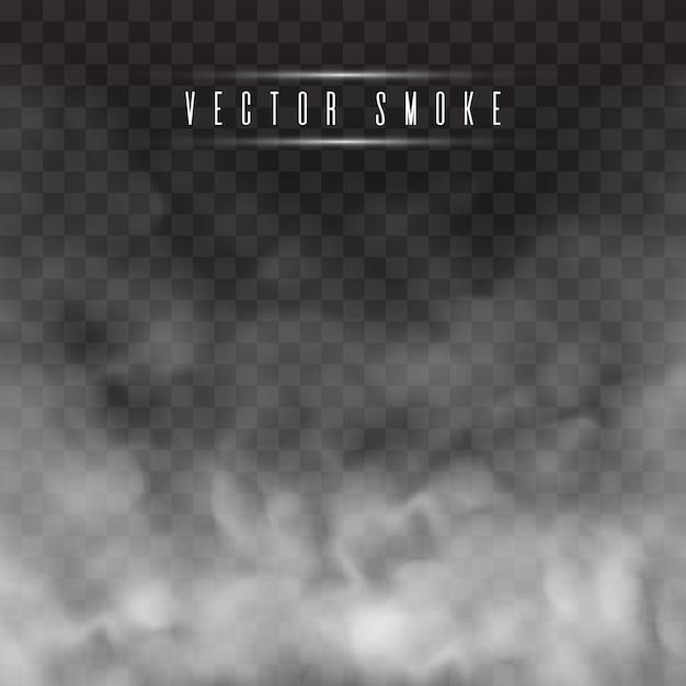 Niebla o humo aislado efecto especial transparente. Vector Premium