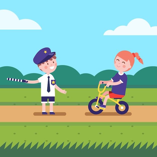 Niña y niño jugando a los personajes de juegos | Descargar Vectores ...