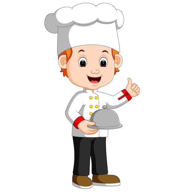 ni u00f1o chef con plato de placa descargar vectores premium cute kid clipart for teachers black and white cute kid clip art waving