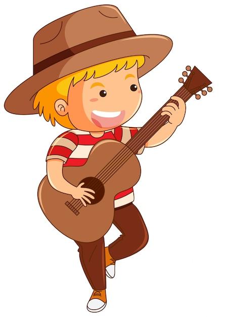 Resultado de imagen para Un niño tocando guitarra